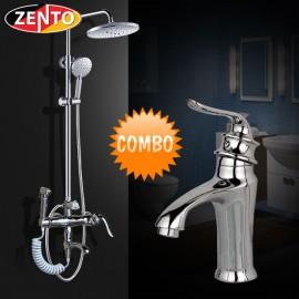 Combo sen cây vòi lavabo Zento Classic KM108